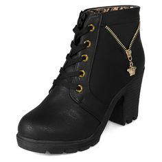 Buy 'yeswalker – Gold-Tone Pulltab Lace-Up Boots' with Free International Shipping at YesStyle.com. Browse and shop for thousands of Asian fashion items from Hong Kong and more!