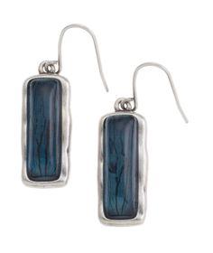 The #GraceAdele Zeta Drop Earrings in ocean.