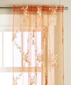 Sheer Orange Curtains