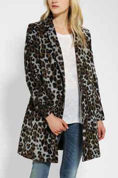 BB Dakota Hazel Leopard-Print Coat
