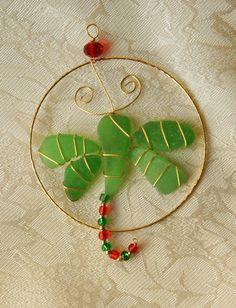 sea glass crafts ideas   Dragonfly Sea Glass Ornament or Suncatcher by ...   Craft Ideas