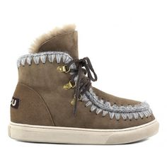 Mou Sneaker Lace-up Dark Stone - MOU #mou #fashion #boots #eskimo #women