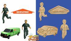 Servpro Cookie Collection - Custom Designs  - Logo, Van, Servpro heros - Unique Ideas - Custom Cookies
