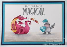 www.thecraftythinker.com.au, Magical Day, Dragon and slayer, Stampin' Up