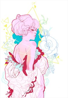 Fashion Illustration, Néon by Marguerite Sauvage, via Behance