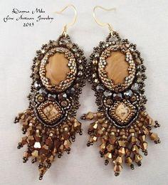 Bead Embroidery Bead Woven Earrings Bohemian by DealanDeDesigns, $68.00