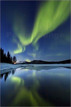 Nordlichter über Sandvannet See