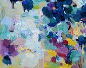 Lienzo más grande de impresión 30 x 30 pulgadas - Azul Lyrics - fine art print-decoración de la pared - pintura abstracta