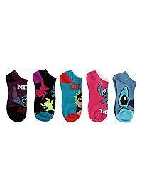 HOTTOPIC.COM - Disney Lilo & Stitch No-Show Socks 5 Pair