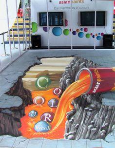 Famous 3D Street Artwork Asian Paints