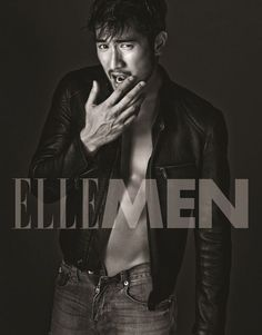 Godfrey Gao for ElleMen... damn this is one hot Asian man.