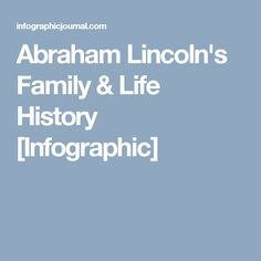 Abraham Lincoln's Family & Life History [Infographic]