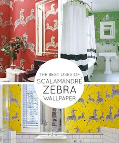 I was out shopping with my little girl, and she was enamored by the iconic Scalamandré Zebra wallpaper we saw in the bathroom of the Chicago Kate Spade store…