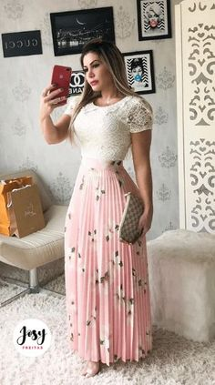 Shop sexy club dresses, jeans, shoes, bodysuits, skirts and more. Blue Skirt Outfits, Modest Outfits, Classy Outfits, Modest Fashion, Chic Outfits, Fashion Outfits, Stylish Dresses For Girls, Casual Dresses, Color Combinations For Clothes