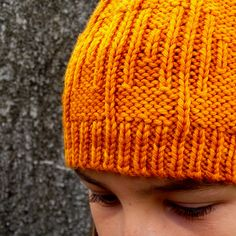Knit Actually Hat by Gabriella Henry. malabrigo Rios in Sunset colorway.