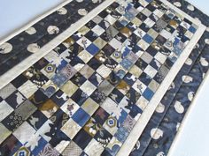 Elegant Quilted Table Runner Cat Quilted by ForgetMeNotQuilteds