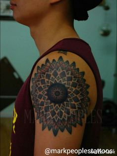 Mandala by Mark Peoples done at Gypsy Rose Tattoos