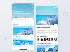 travel designed by Xiaobao Wang for Dreamotion. Connect with them on Dribbble; Best Ui Design, Web Design, App Ui Design, User Interface Design, Flat Design, Ux Design Portfolio, Adaptive Design, App Design Inspiration, Mobile Ui Design