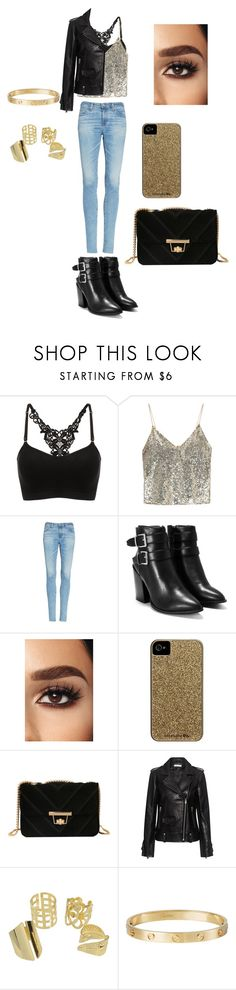 """""""Untitled #401"""" by abigailjoydebruin on Polyvore featuring beauty, Alice + Olivia, AG Adriano Goldschmied, Nasty Gal, Case-Mate, IRO and Cartier"""