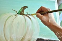 How to paint a pumpkin canvas, art skills not required!!!shading the top
