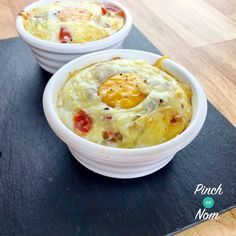 Syn Free Sausage, Mushroom and Tomato Breakfast Bake | Slimming World - http://pinchofnom.com/recipes/syn-free-sausage-mushroom-and-tomato-breakfast-bake-slimming-world/