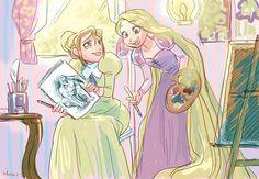 Jane from Tarzan hangs out with Rapunzel from Tangled Walt Disney, Disney Nerd, Disney Fan Art, Cute Disney, Disney Girls, Disney Magic, Disney Cartoons, Disney Movies, Disney Stuff