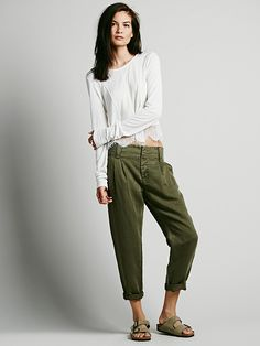 Free People Relaxed Washed Trouser, Ft 27672.75