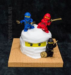 6th Birthday Cakes, Ninja Birthday, Boy First Birthday, Bolo Ninjago, Festa Ninja Go, Ninja Cake, Ninja Party, Lego Cake, Cakes For Boys