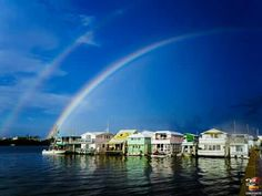 Conchtastic Key West | I didn't get chance to see tonight's sunset but I did see a Double Rainbow — at Garrison Bight Marina