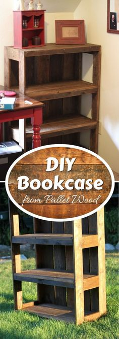 Check out how to build a DIY bookcase from pallet wood @istandarddesign