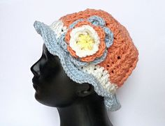 "Girls and Ladies Hat ""Vario"" Crochet Pattern on Ravelry"