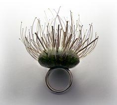 inspired by nature: ring artwork   Artist / Künstler: Visy Dóri  