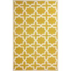 nuLOOM Handmade Marrakesh Trellis Yellow Wool Rug (5' x 8')   Overstock.com Shopping - The Best Deals on 5x8 - 6x9 Rugs