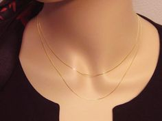 14k Gold Layered Necklace Set Solid 14k Solid by PowersThatBead
