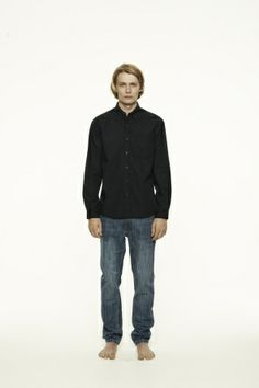 Abberley Classic Long Sleeve Shirt in Charcoal.   VE Classic poplin long sleeve shirt with chest pocket. Tortoise shell custom VE buttons down centre front placket and on collar and cuffs. This garment has been overdyed charcoal. Please take care when washing and refer to the instructions on the care label.  100% Cotton