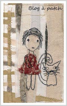 Piqué-libre sur fond textile/papier                                                                                                                                                                                 Plus