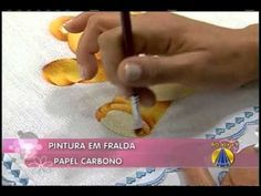 Aprenda uma técnica inovadora de pintura em fralda! - YouTube