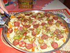 Massa básica para pizza caseira