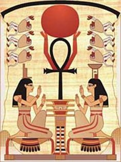 "The ankh, also known as crux ansata (the Latin for ""cross with a handle"") is an ancient Egyptian hieroglyphic ideograph with the meaning ""life""."
