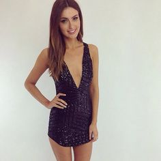 Peppermayo.com.au #sequence #plunge #dress #party #newyearseve