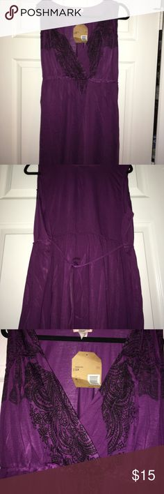 NWT Purple Tank Dress Cute Purple Tank dress with black design on front by Route 66. NWT and never been worn! Route 66 Dresses Midi