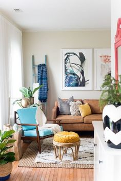 5 Not-Cheesy Ways to Rock Rattan | This isn't your grandma's wicker. The new way to rock rattan involves modern shapes and fresh colors. Check out these 10 rooms for actionable lessons on how to bring this natural material into the 21st century and into your home.