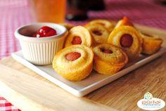 Receita do dia: Hot dog muffins