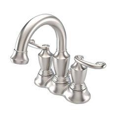 American Standard Covina Satin Nickel 2 Handle 4 In Centerset Watersense Bathroom Sink Faucet