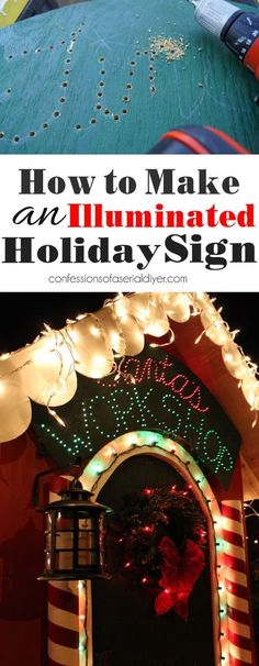 How to make an illuminated sign from confessionsofaserialdiyer.com #christmasyard