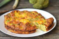 Пирог-омлет с брокколи и сыром