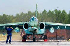 """Russian Sukhoi Su-22 """"Frogfoot"""" attack acraft."""