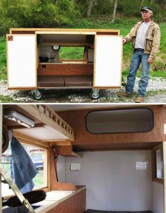 As a teacher, if i taught shop, i would make it a project for students to design and possibly build practical homeless shelters which could then be donated to individuals in the community. this mini RV design is my favorite.