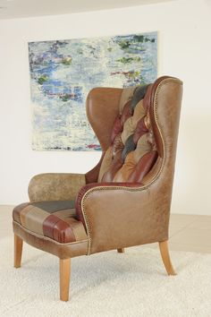 Clarence Wingchair (3), James and Rose Handmade Leather Sofas - www.jamesandrose.co.uk