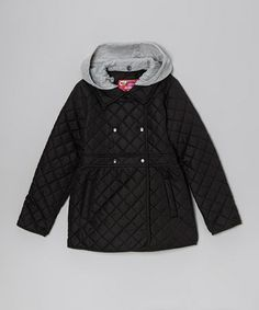 Take a look at this Black Quilted Jacket - Toddler & Girls by Dollhouse on #zulily today!